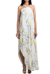 white-double-georgette-one-shoulder-block-printed-maxi-dress