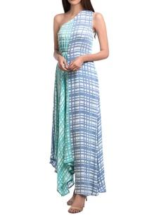 sea-green-lavender-georgette-one-shoulder-dress