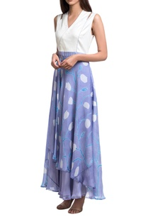 white-lavender-block-printed-floral-maxi-dress