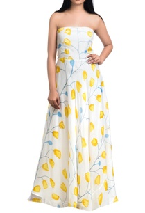 off-white-yellow-hand-painted-off-shoulder-maxi-dress