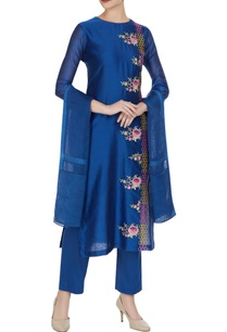 royal-blue-chanderi-silk-resham-thread-embroidered-kurta-set