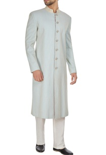 powder-blue-spun-silk-sherwani-with-embroidered-buttons-pants