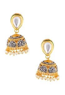 multiple-tiered-style-jhumka-necklace-with-earrings