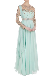 cutdana-dabka-embroidered-draped-style-gown