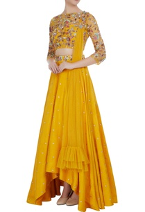 raw-silk-sequin-embroidered-high-low-lehenga-set