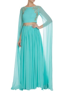 hand-embroidered-gota-crystal-bead-lehenga-set