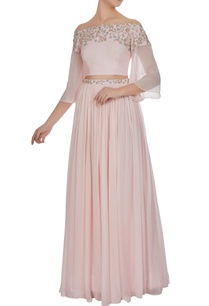off-shoulder-crystal-cutdana-embroidered-blouse-with-lehenga