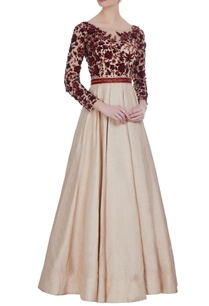 dupion-silk-bead-sequin-pleated-gown