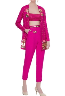 hot-pink-crepe-matka-silk-3d-rose-embroidered-blazer-with-bralette-pants