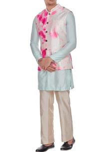 ivory-tie-dye-safari-jacket-inspired-bundi-with-metallic-buttons