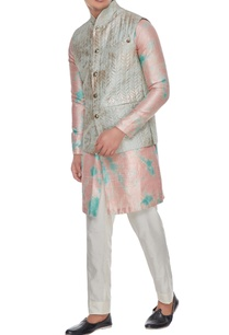 pale-blue-quilted-metallic-foiled-stand-collar-bundi-with-buttons