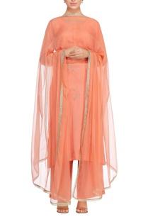 carrot-orange-sequence-badla-embroidered-kurta-set