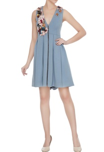 pale-blue-polyester-pleated-skater-dress