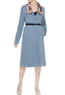 dusty-blue-polyester-hand-embroidered-trench-coat-jacket