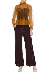 plum-high-waist-flared-pants