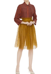mustard-yellow-tulle-net-pleated-skirt