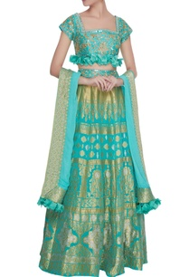 blue-chanderi-silk-banarasi-silk-gota-embroidered-lehenga-set