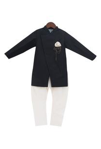black-linen-cotton-silk-ajkan-with-churidar