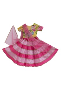 pink-poly-silk-lehenga-with-cotton-printed-blouse-dupatta