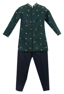 green-cotton-silk-suiting-fabric-zardozi-embroidered-ajkan-with-black-pants