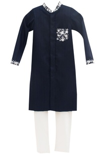 dark-blue-dupion-silk-cotton-silk-embroidered-ajkan-with-churidar