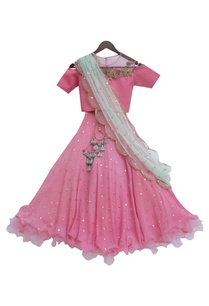pink-sequin-embroidered-lehenga-with-choli-blouse-net-dupatta