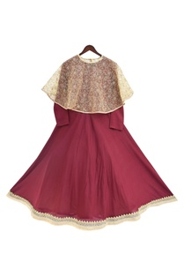 burgandy-modal-net-anarkali-with-cape