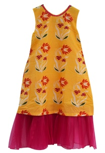 yellow-cotton-printed-dress