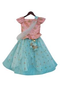 baby-pink-silk-net-embroidered-peplum-choli-with-light-blue-sequin-work-lehenga-dupatta