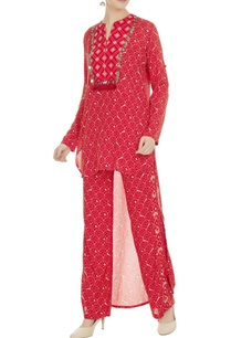 geometric-printed-elastic-waist-pants