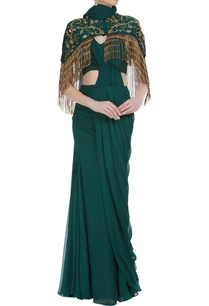pre-draped-saree-with-hand-embroidered-tassel-cape