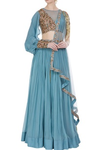 hand-embroidered-resham-bugle-bead-lehenga-with-dupatta