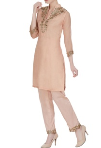 organza-silk-fitted-tunic-with-cigarette-pants
