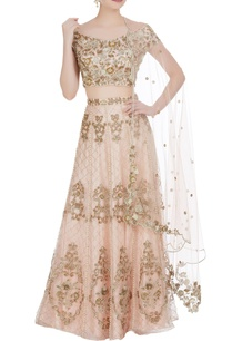 organza-hand-embroidered-lehenga-with-off-shoulder-blouse-dupatta