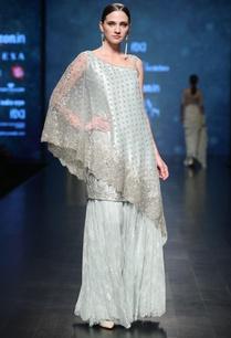 aqua-satin-hand-embroidered-cape-with-kurta-sharara-pants