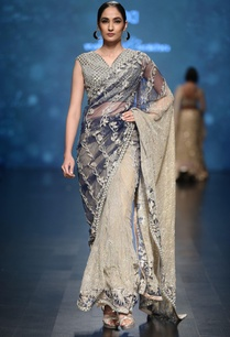 royal-blue-net-saree-in-gold-silver-sequin-bead-embellishments-with-blouse