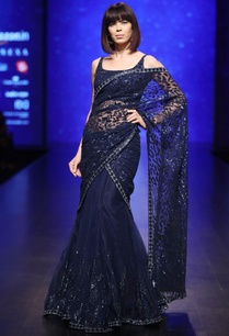 blue-sequin-bead-hand-embroidered-lehenga-saree-with-drape-blouse