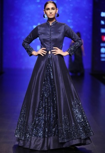 midnight-blue-lace-lehenga-with-dupion-silk-sequin-jacket