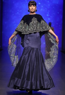royal-blue-velvet-hand-embroidered-cape-with-dupion-silk-lehenga