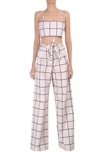 check-printed-high-waisted-pants