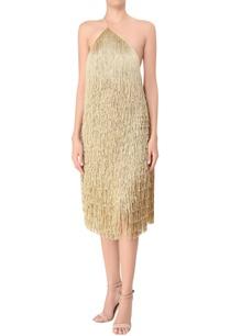 tassel-detail-crepe-silk-one-shoulder-dress