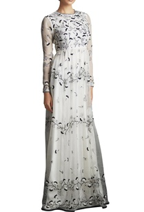black-white-silk-organza-long-garden-dress