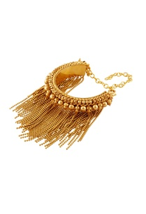 gold-plated-tassel-chain-sleek-bracelet