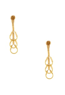 gold-plated-inverted-u-shaped-dangling-earrings
