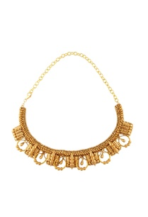 gold-plated-bead-spiky-stud-embellished-necklace