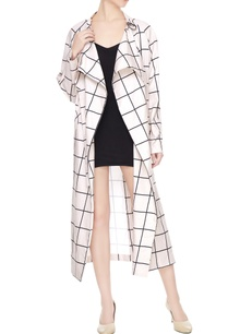 white-cotton-chequered-long-jacket