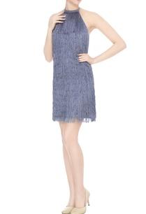 blue-crepe-silk-tasseled-halter-neck-short-dress