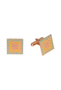 multicolored-handcrafted-square-cufflinks