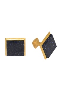 black-gold-plated-brass-handcrafted-square-cufflinks