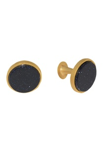 black-brass-handcrafted-circular-cufflinks